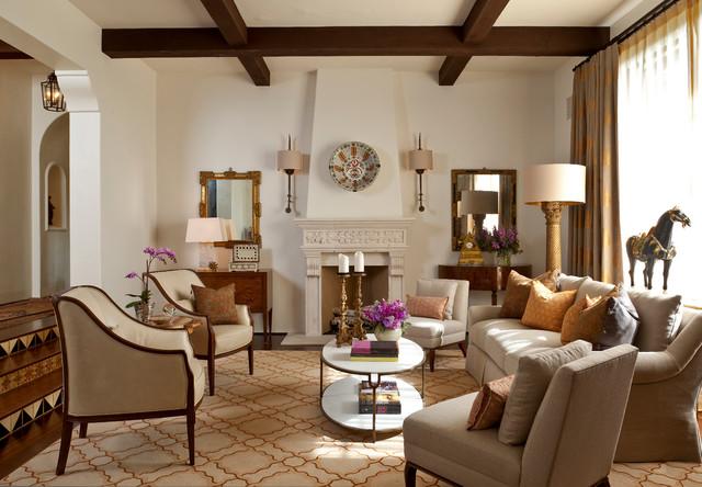 Montecito Andalusian mediterranean-living-room