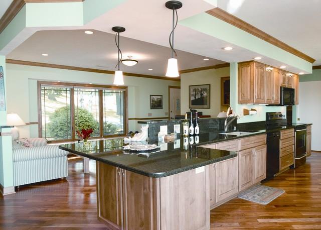 Lake Kegonsa Tri-Level Remodel - Traditional - Kitchen ... on Small:xmqi70Klvwi= Kitchen Renovation Ideas  id=54530