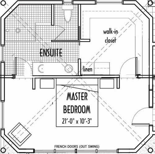 Master bedroom with walk in closet and bathroom floor plans Bathroom floor plans walk in shower