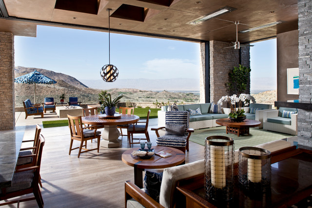 Indoor/ Outdoor Living Space - Contemporary - Living Room ... on Ab And Outdoor Living  id=53889
