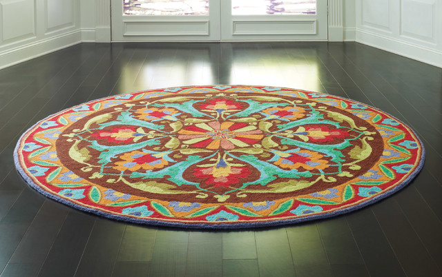 Round Rugs Company C Porcelain Modern Dining Room
