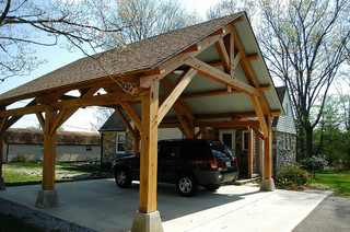 Heavy Timber Porte Cochere In East Tennessee Arts
