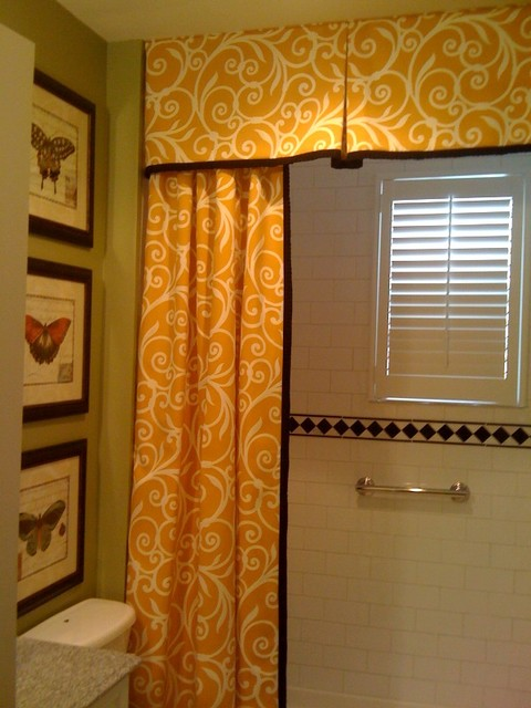 Shower Curtain And Valance Traditional Bathroom DC Metro