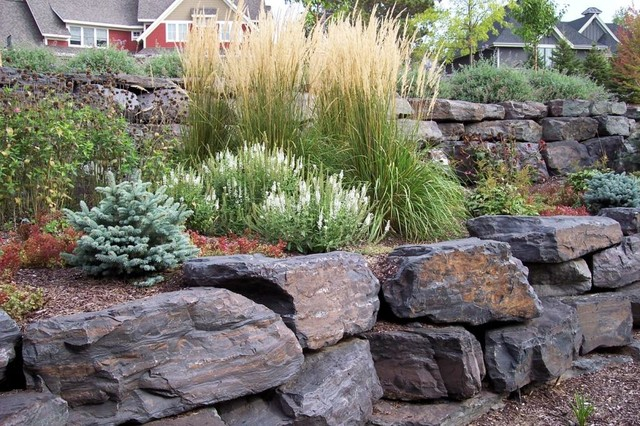 Tiered wall - Traditional - Landscape - Minneapolis - by ... on Tiered Yard Landscaping id=62531