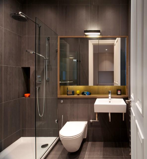 Luxury Apartment in Queen's Gate - Contemporary - Bathroom ... on Apartment Bathroom  id=45716