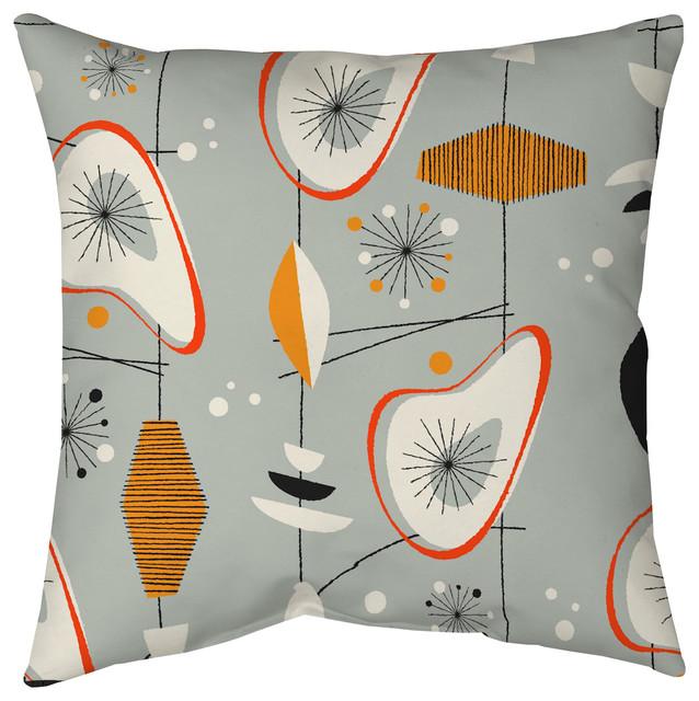 mid century modern pillow 18 x18