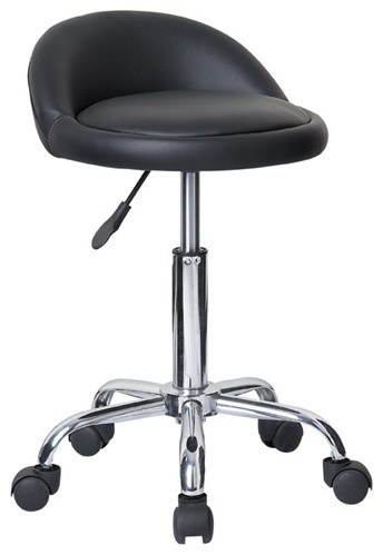Juno Adjustable Height Massage Stool With Wheels Contemporary Bar Stools And Counter Stools By Vandue Corporation
