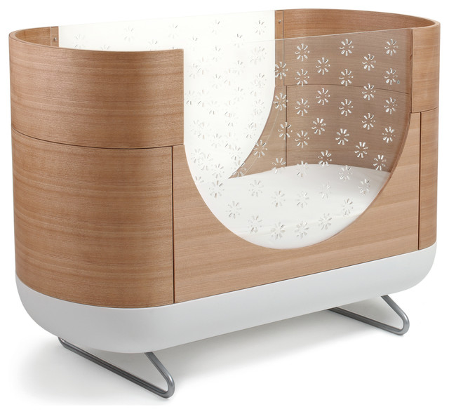Pod 3 In 1 Convertible Crib With Toddler Bed Conversion Kit Contemporary Cribs