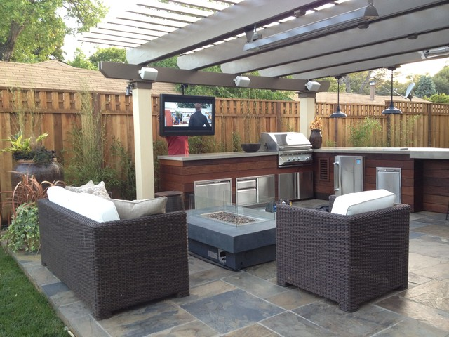 Man Cave - Craftsman - Patio - san francisco - by Divine ... on Man Cave Patio Ideas  id=69939