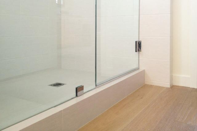 shower tile at wood floor - Farmhouse - Bathroom - Orange ... on Farmhouse Tile Bathroom Floor  id=88283