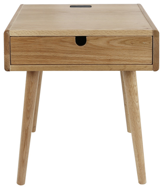 american trails freedom nightstand end table usb ports solid american oak