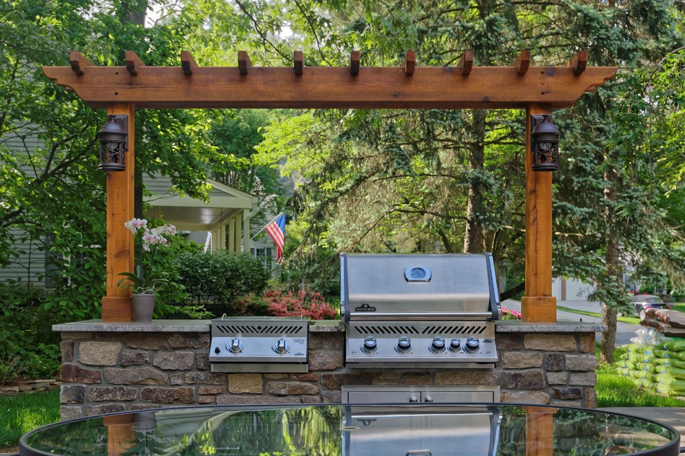 Outdoor grill station, patio and gazebo - Rustic - Patio ... on Patio Grill Station  id=54762