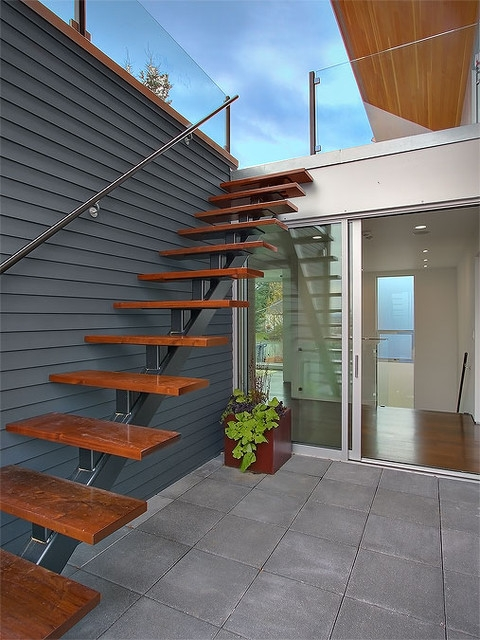 Exterior Stair Accessing Roof Terrace Modern Staircase | Outside Stairs For House