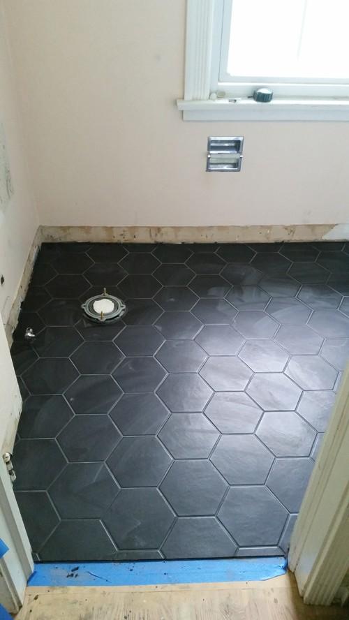 Paint Ideas For New Bathroom Black Floor White Subways