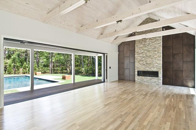 Indoor/Outdoor spaces - Modern - Living Room - New York ... on Indoor Outdoor Living Spaces id=68134