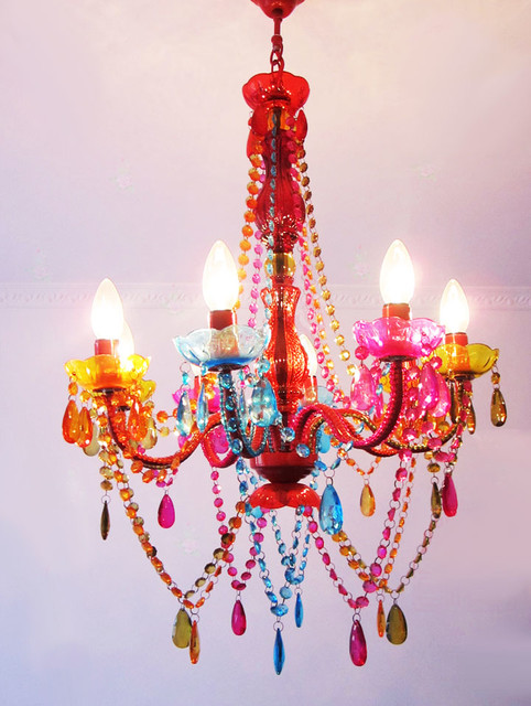 Modern Colorful Crystal Chandelier Contemporary Chandeliers New York By PHOENIX LIGHTING