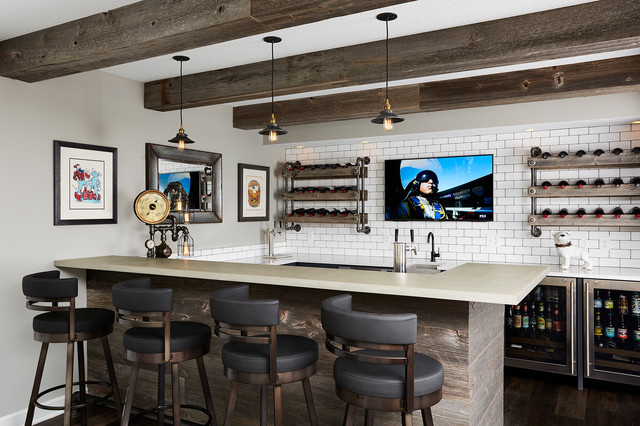 Bar transitional-home-bar