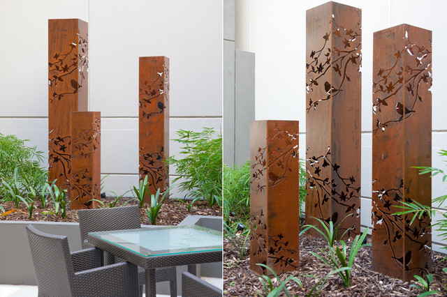 Backyard Garden Sculptures (metal art) - Contemporary ... on Backyard Metal Art id=82873