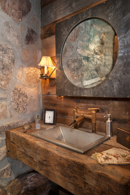 Sunset Ranch Rustic Powder Room Other By Dubbe Moulder Architects