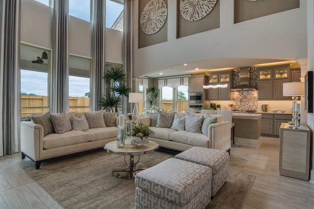 Showcase Homes transitional-family-room