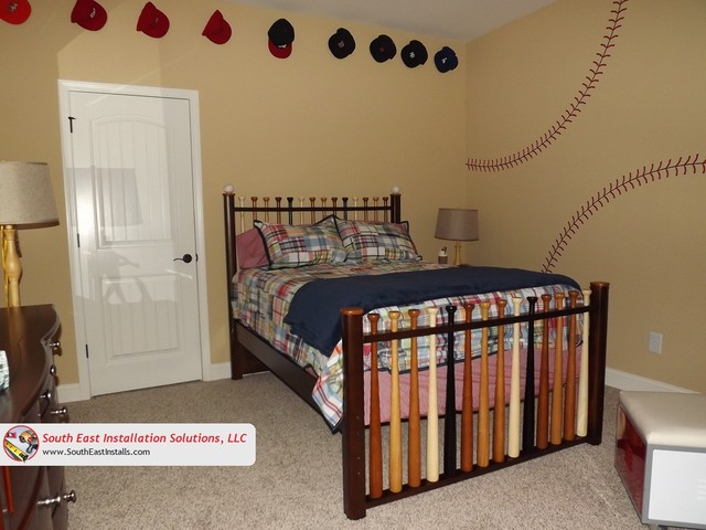 Baseball Themed Bedroom Other By South East. Baseball Themed Bedroom Bedroom  Style Ideas - Baseball - Baseball Decorations For Bedroom Rickevans Homes