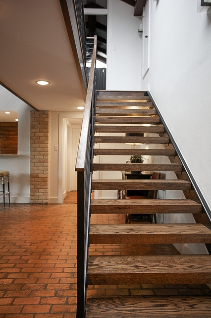 Mid Century Modern Midcentury Staircase Dallas By   Mid Century Modern Banister