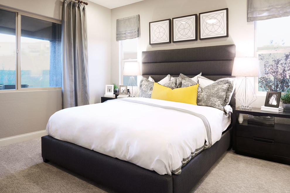 Anika model home in Las Vegas - Contemporary - Bedroom ... on Model Bedroom Ideas  id=37757