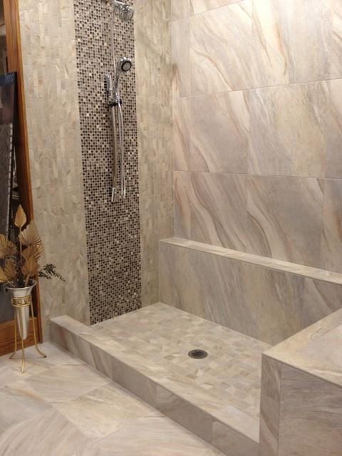 Ragno Boardwalk Grey Modern Bathroom Other Metro