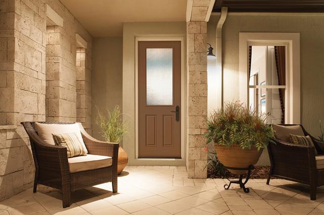 8 Foot 12 Lite Door Granite Glass Brown Mocha Paint