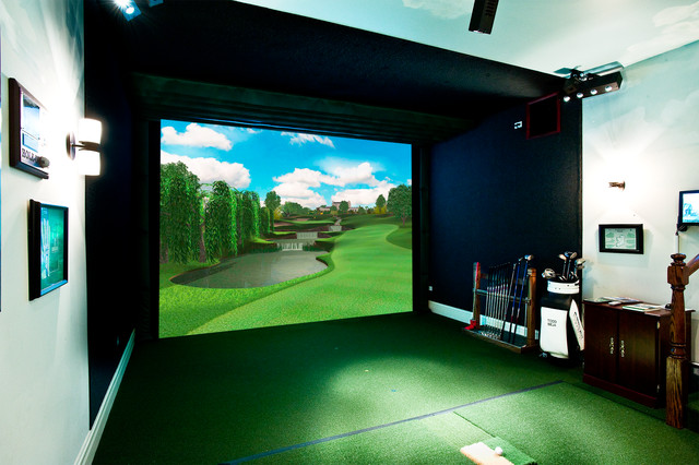 Custom Golf Simulator For Home Home Theater Phoenix