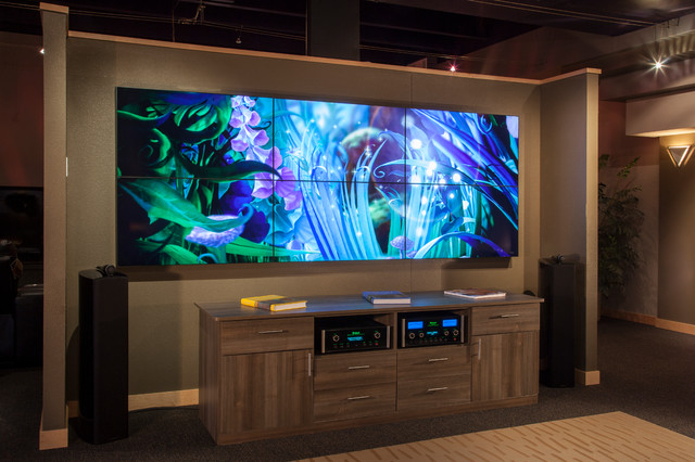 Video Wall Modern Home Theater Denver By Listenup