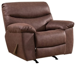 Abbyson Living Tyler Recliner With USB Outlets, Brown