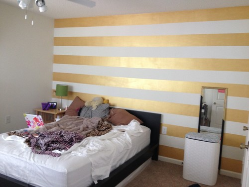 Help Needed With A Gold Striped Accent Wall