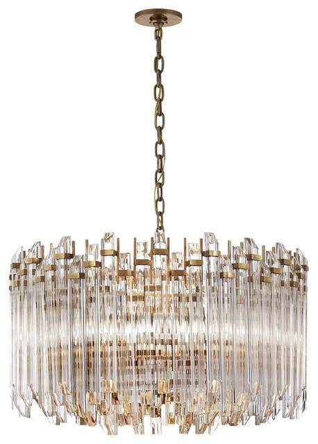 visual comfort lighting suzanne kasler adele chandelier antique brass