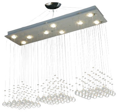 Modern Rain Drop Chandelier With Crystal Traditional Chandeliers