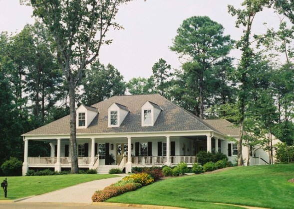 Acadian Style Home with wrap around porch in Alabama Acadian Style Home with wrap around porch in Alabama traditional exterior