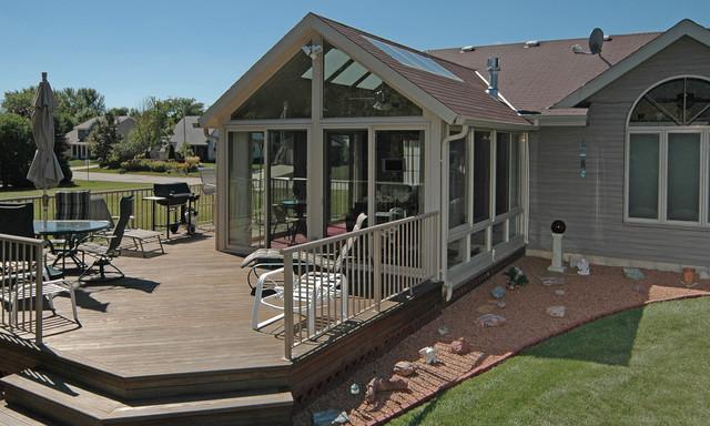 Patio Enclosures Sunroom - Traditional - Deck - Milwaukee ... on Backyard Patio Enclosure Ideas  id=31599