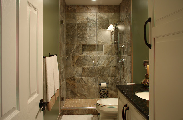 basement bathroom - traditional - basement - dc metro - by nvs
