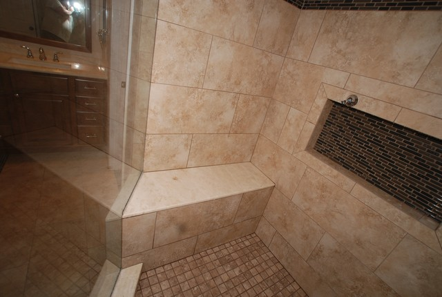 6 Foot Tub In Window Alcove Amp Glass Tile Inlaid Floors