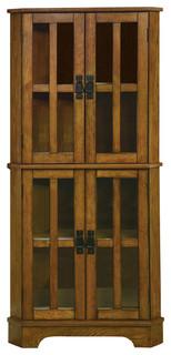 Coaster Corner Curio Cabinet, Golden Brown