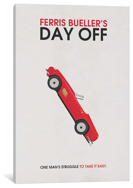 ferris bueller s day off alternative minimalist by popate canvas 26 x18