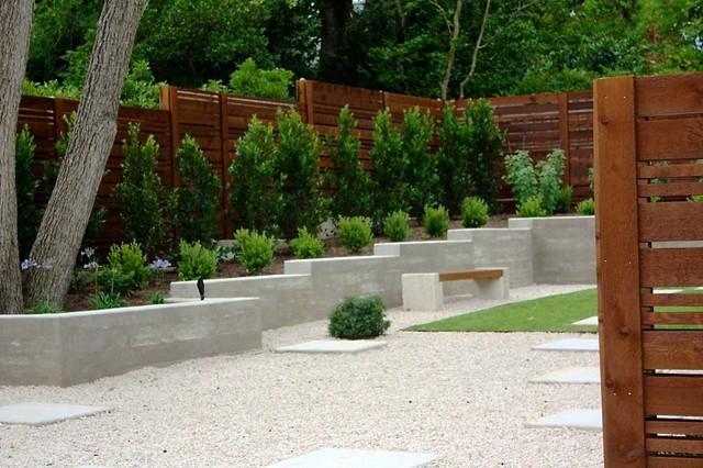 Minimalist Backyard - Modern - Landscape - austin - by ... on Modern Backyard Landscape Ideas id=85434