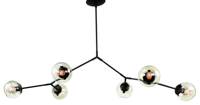 Branching Bubble Chandelier Light Smoke Glass Contemporary Chandeliers