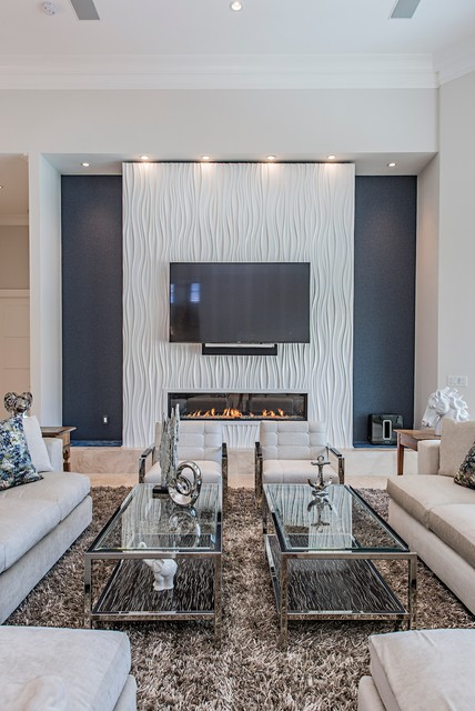 Certified Luxury Builders - 41 West - Waterfront Home Remodel contemporary-living-room