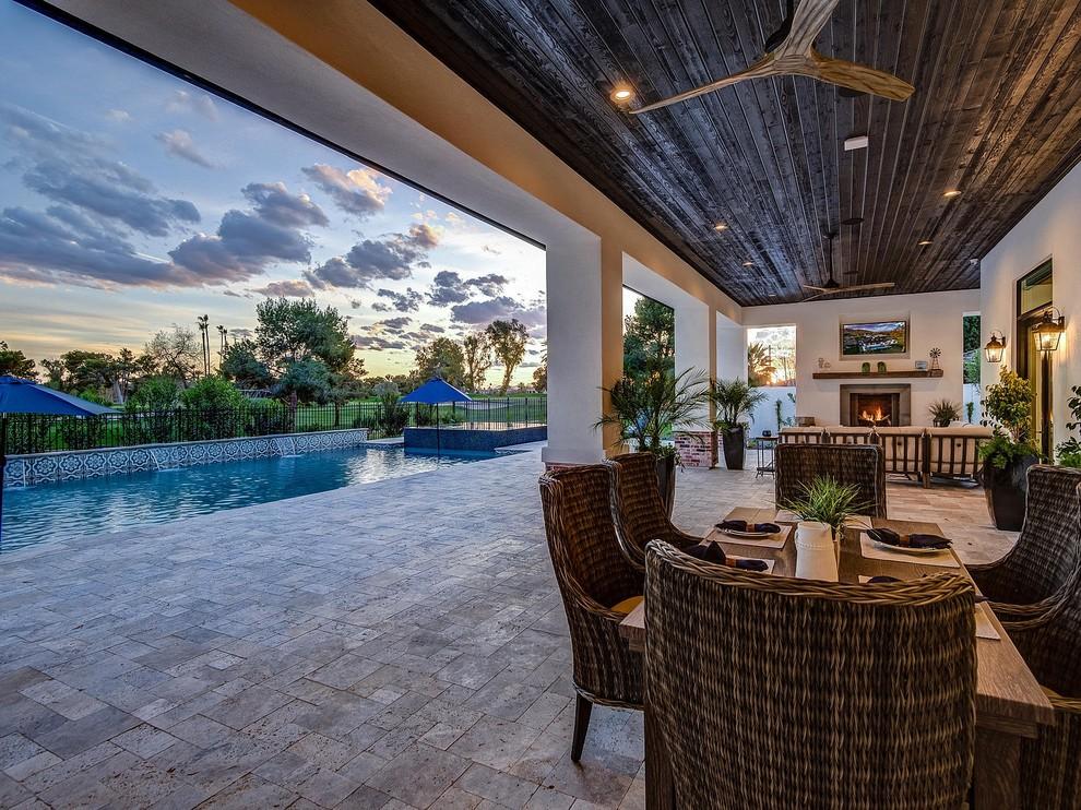 Arcadia Luxury Smart Home - Tropical - Patio - Phoenix ... on Arcadia Backyard Designs id=60328
