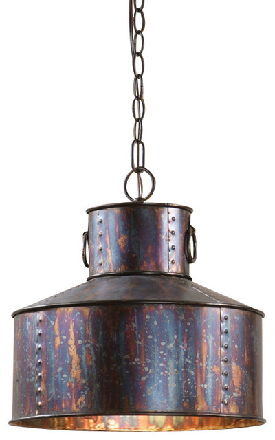 Uttermost Albiano Drum 1 Light Pendant