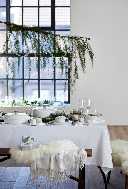 Winter's Table contemporary-dining-room