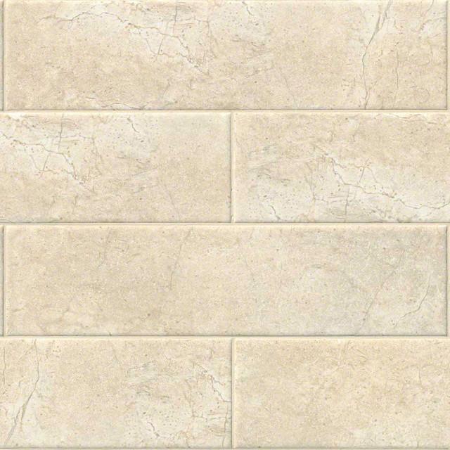 ceramic subway tile beige crema 4 x16 set of 10