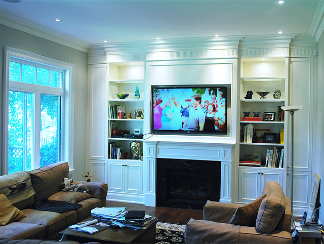 Built In Wall Unit - Traditional - Living Room - toronto ... on Living Room Wall Units id=12146