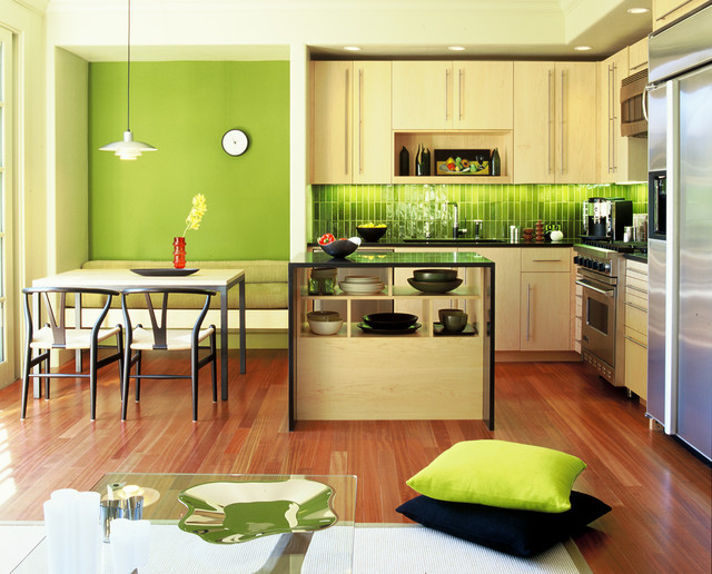 Los Gatos Townhouse modern-kitchen